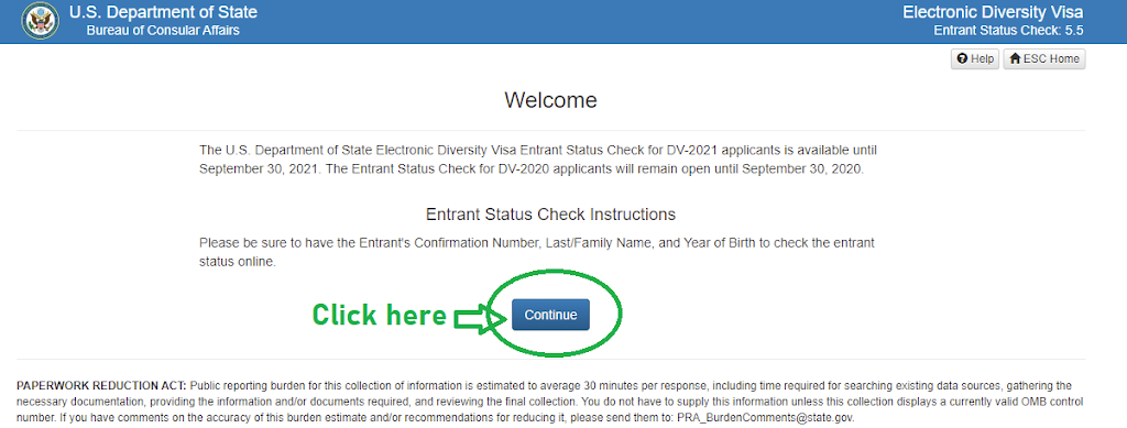 Second steps of edv lottery result checking process