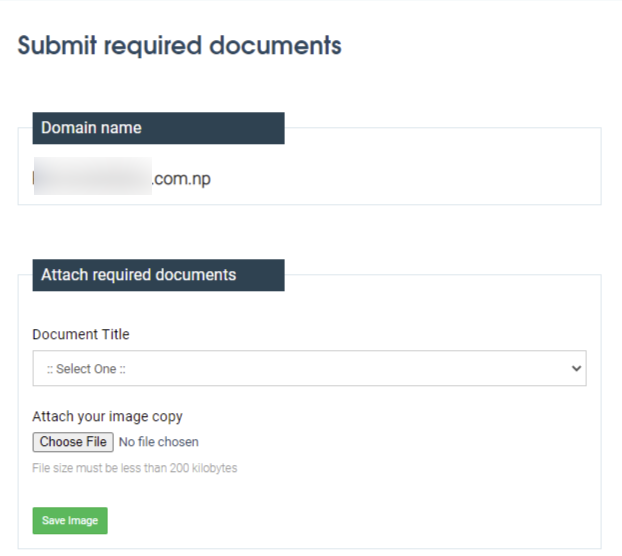 submit required documents