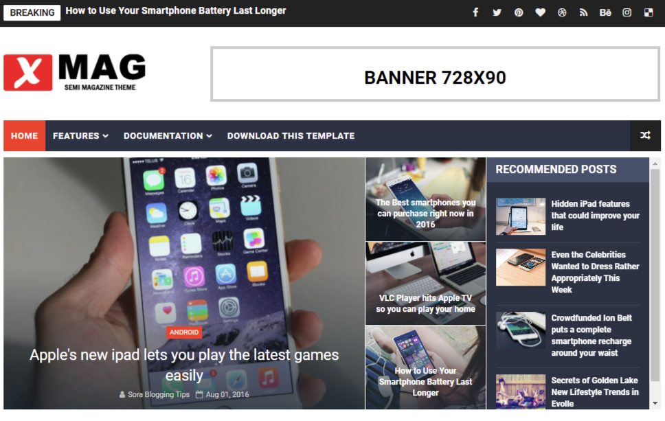 Xmag Blogger Template