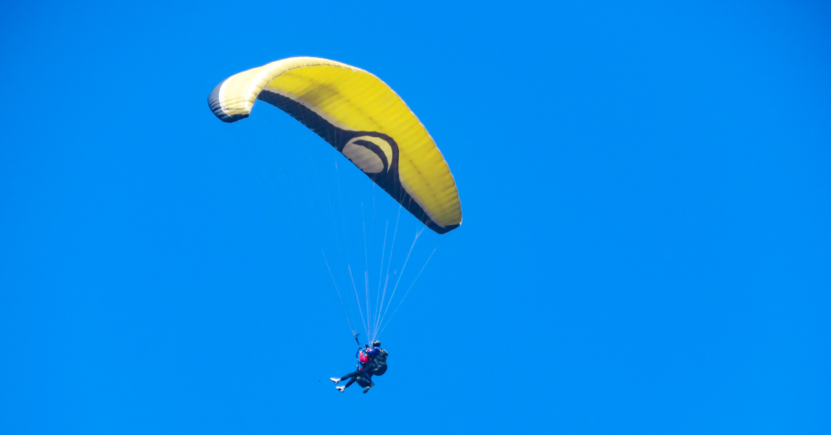 Paraglider in the sky of Pokhara Nepal